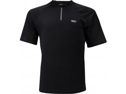 Pánské běžecké triko Akka SS 1/2 zip černé Velikost pánská: 3XL