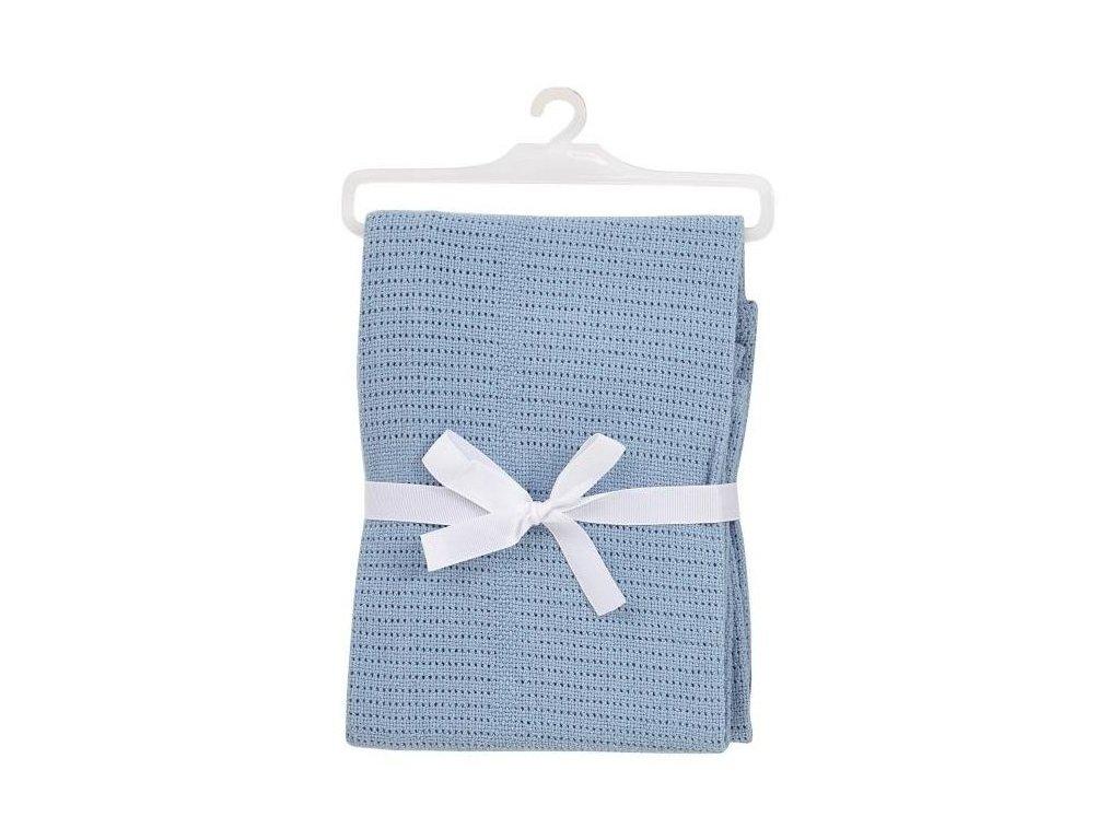 bavlnena deka pro miminko svetle modra 1
