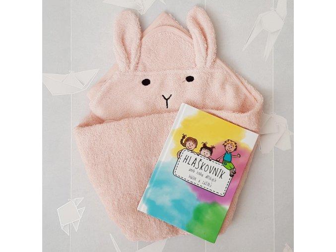 Výhodná sada - Hláškovník a růžová dětská osuška