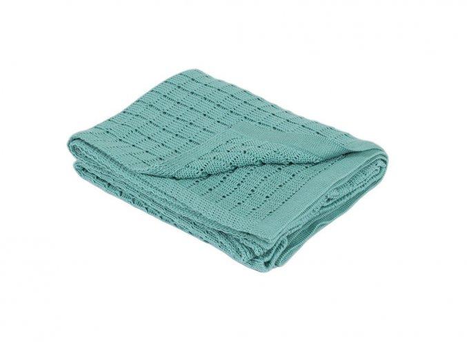 pletena deka rialto baby tyrkysova