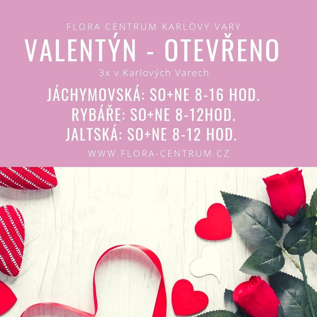Valentýnská otevírací doba 14.2.2021