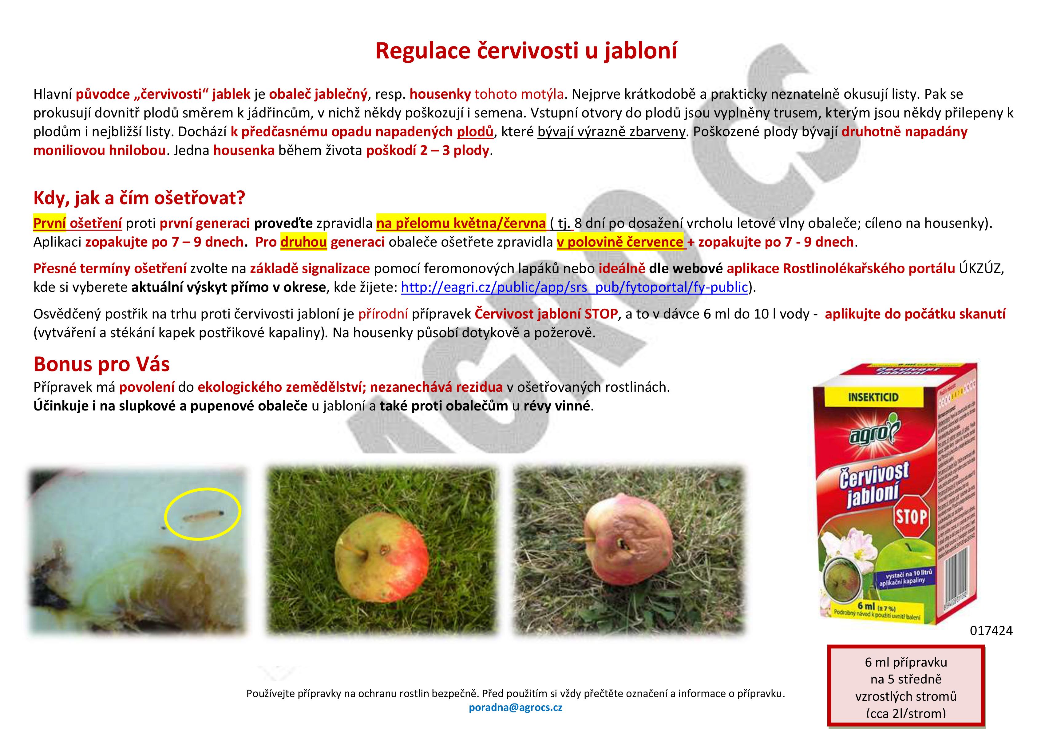 Zabraňte červivosti u jabloní se správnými přípravky