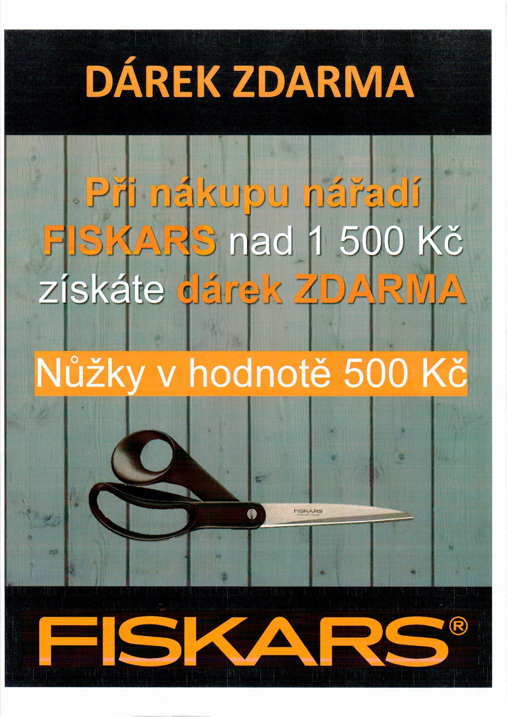 DÁREK v hodnotě 500 Kč k nákup nářadí FISKARS