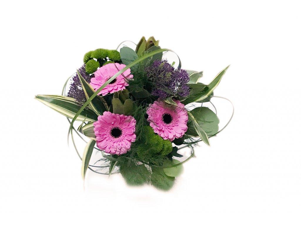 Kytice Violet - gerbery, chrysantémy, trachelium