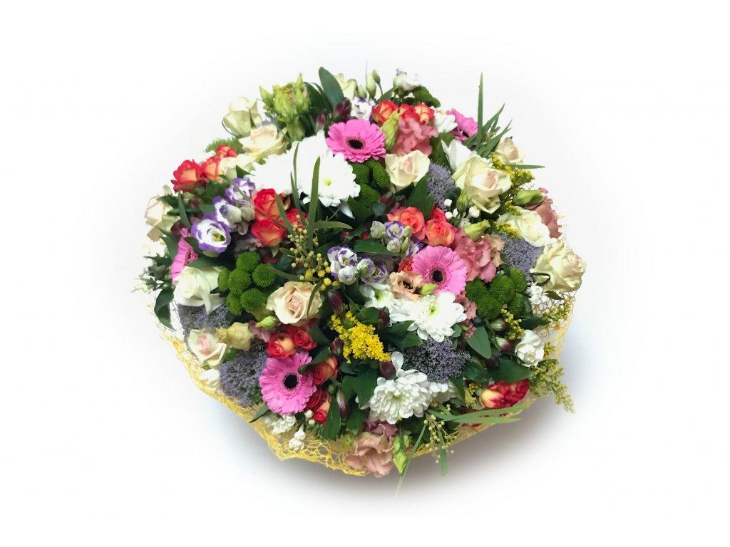 Kytice Stella - germína, frézie,růže, trachelium