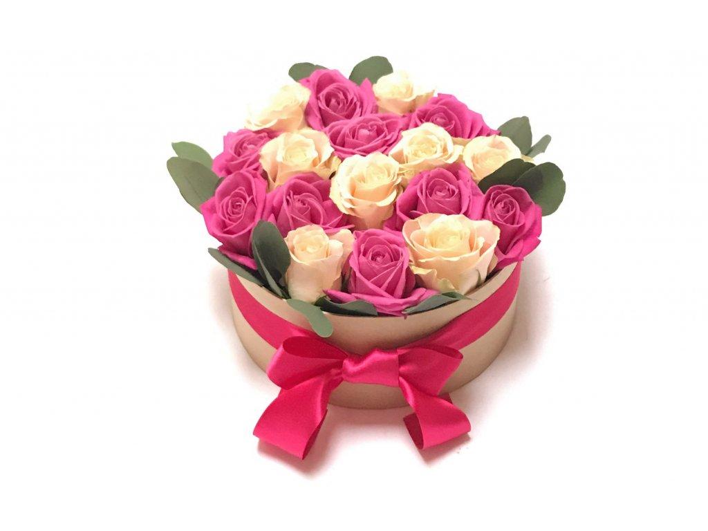 Květinový box - růže + oasis
