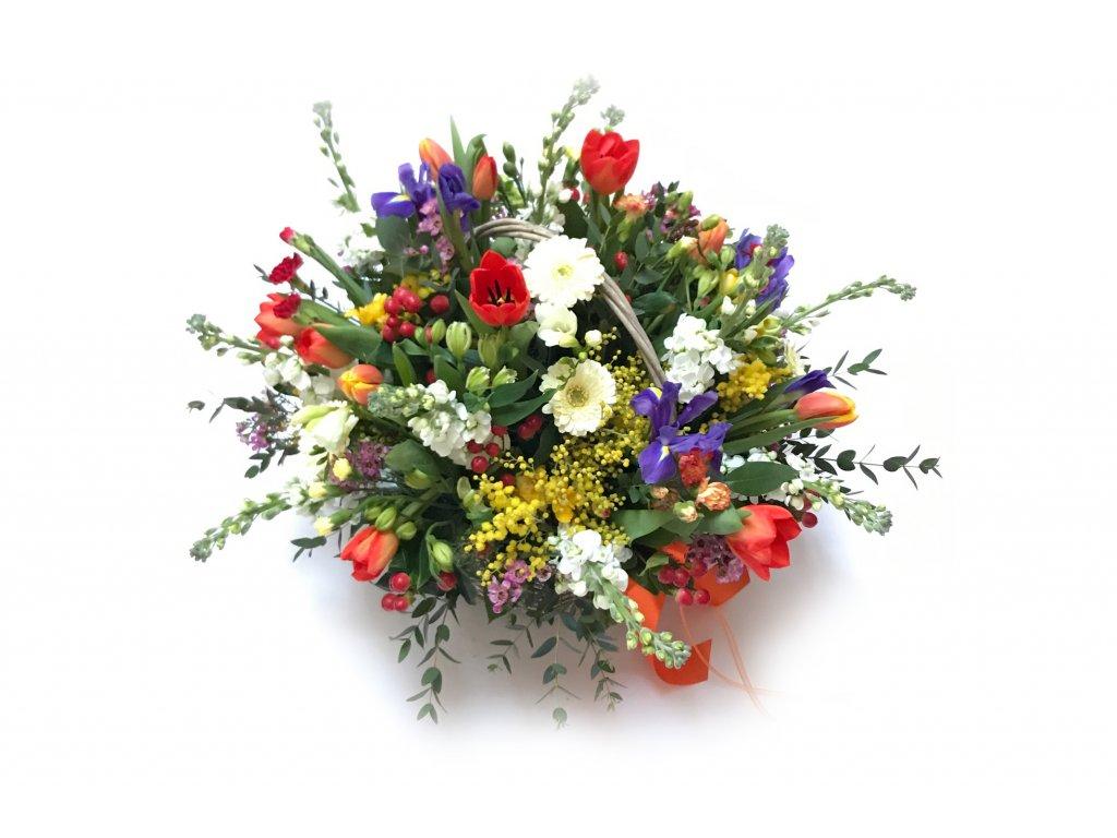 """Jarní květinový košík """"Jitka"""""""