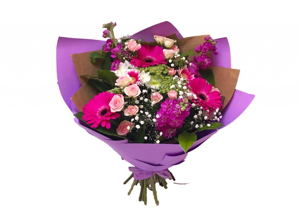 Kytice Alexandra - růže, mathiola, germina, minikarafiat, santini