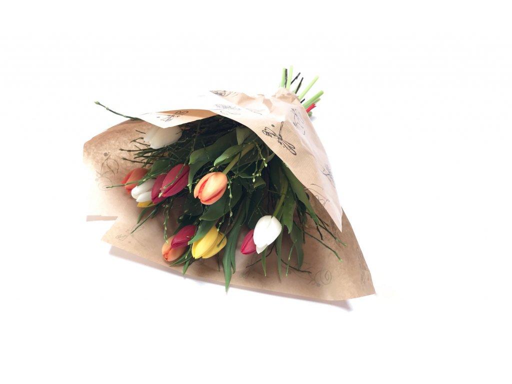 Kytice Tereza - tulipány, borůvčí
