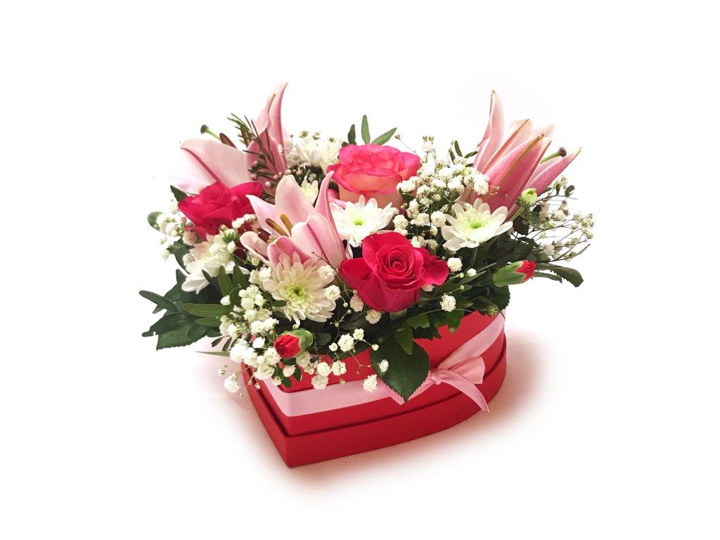 Červený flowerbox
