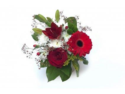 Kytice Paris - gerbera, růže, lilie, chrysanthema