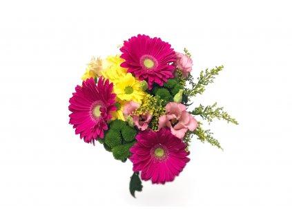 Kytice Ester - gerbera, chrysanthema, lisianthus