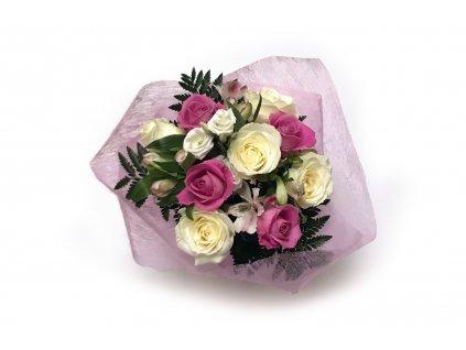 Kytice Rosemary - růže, frézie, alstroemérie
