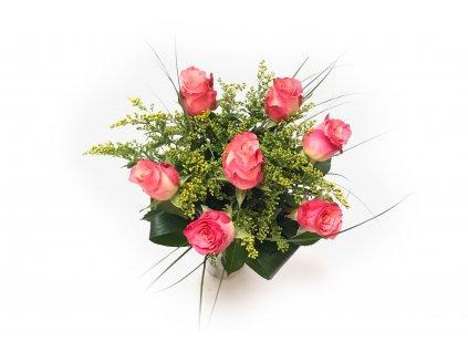 Kytice Victorie - růže + solidágo