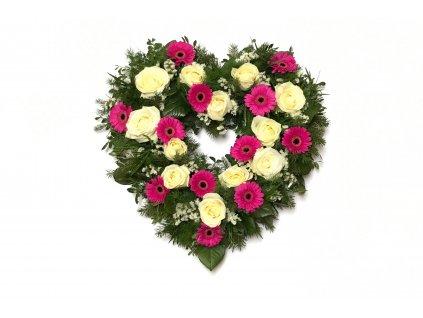Květinové srdce - germina, růže, statice