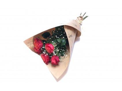 Kytice Romana - růže, gypsofila