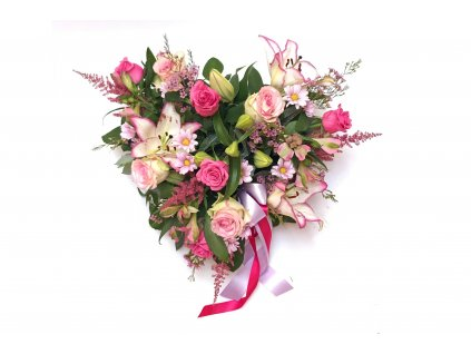 Flower box - srdce, mix květů
