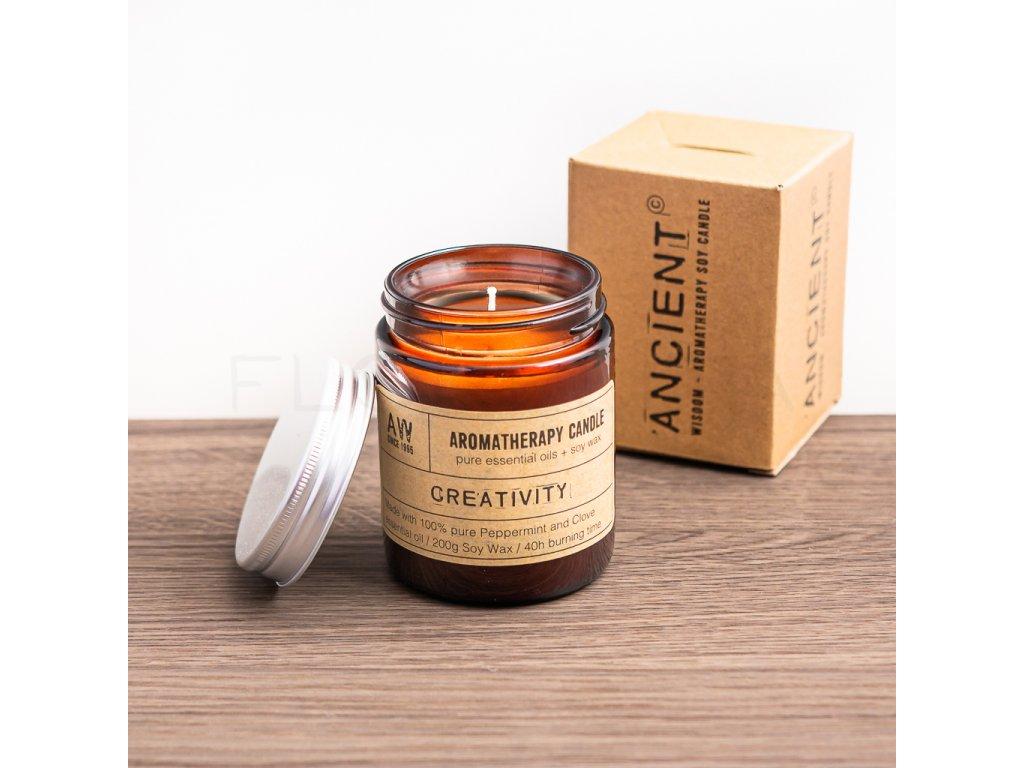 aromaterapeuticka sviecka ancient wisdom creativity florecita