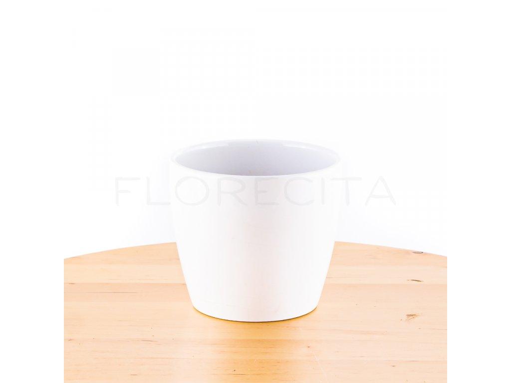 keramicky kvetinac biely florecita 002