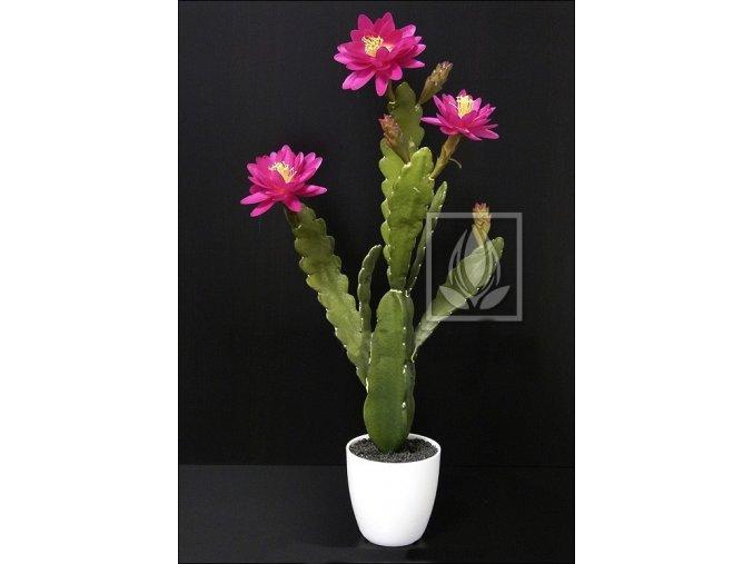 Umělý kaktus kvetoucí (60cm)