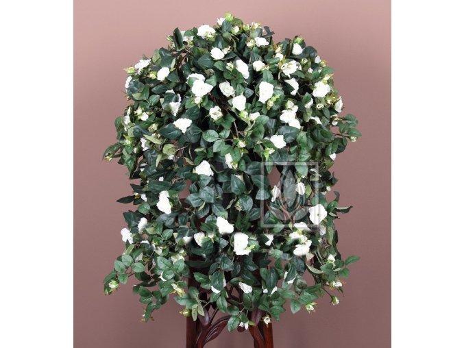 Umělá rostlina Převis z růží (70cm) bílý