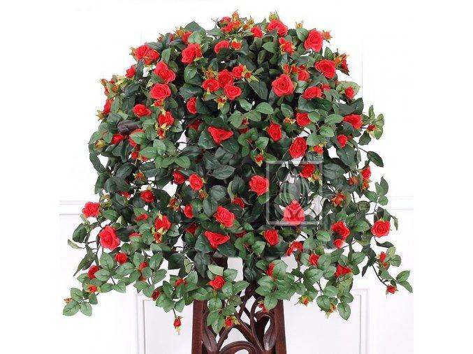 Umělá rostlina Převis z růží (70cm) červený