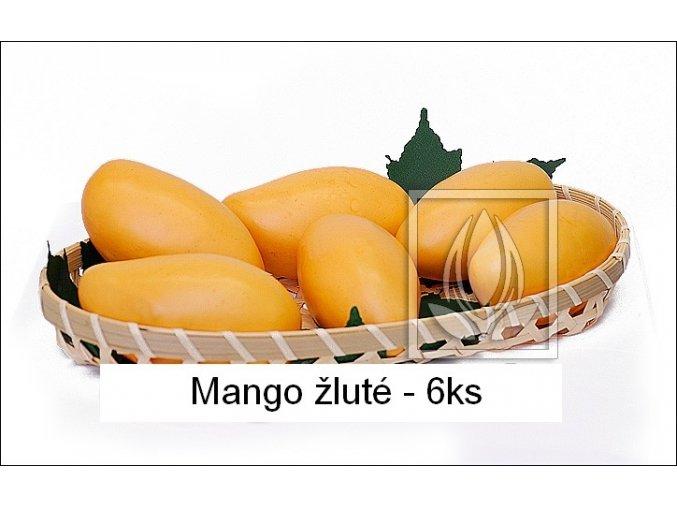 Umělé ovoce - Mango (6ks) žluté
