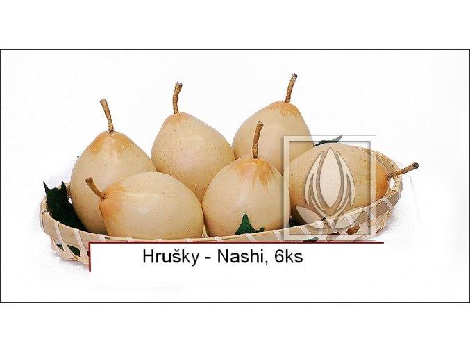 Umělé ovoce - Hrušky Nashi (6ks)