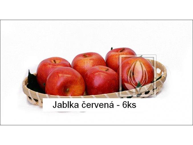 Umělé ovoce - Jablka červená (6ks)