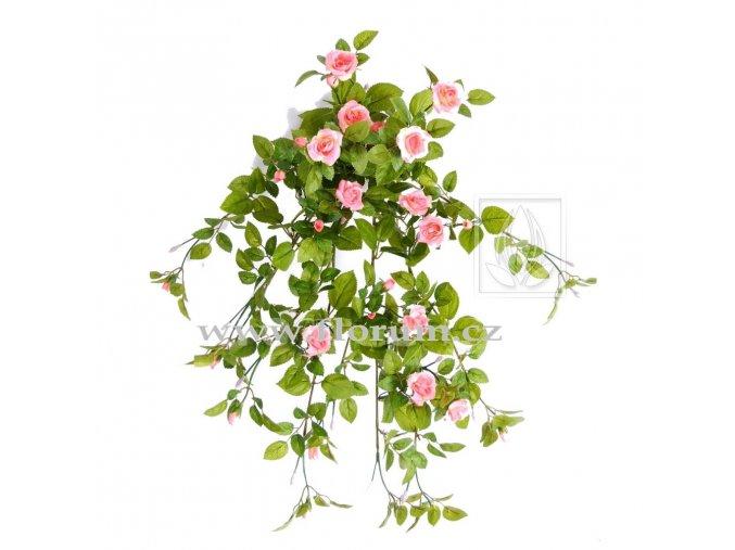 Umělá rostlina převis z růží (55cm)
