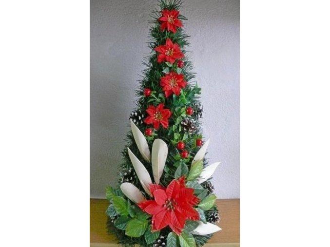 Umělý vánoční stromek Mini Deko (50cm) červená