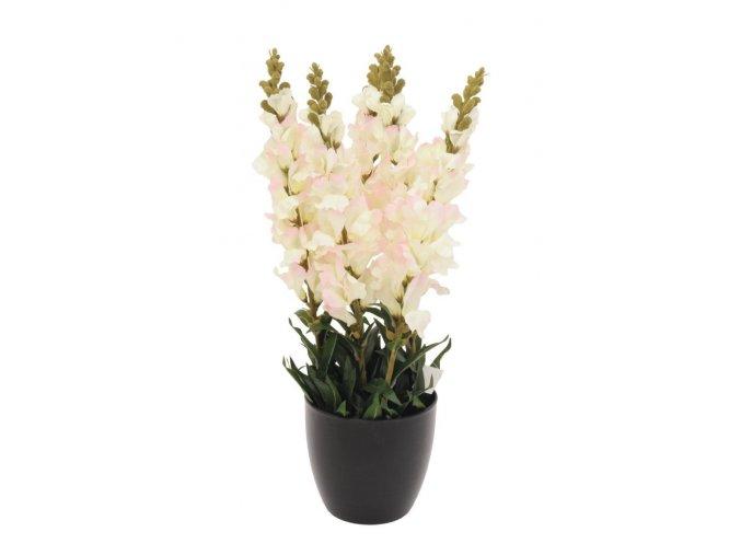 Umělá rostlina Hledík (65cm) bílý
