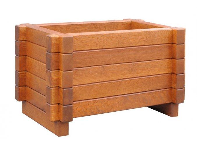 Dřevěný květináč 60x40 cm Dub