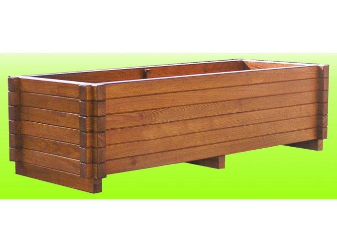 Dřevěný květináč 60x120 cm Dub