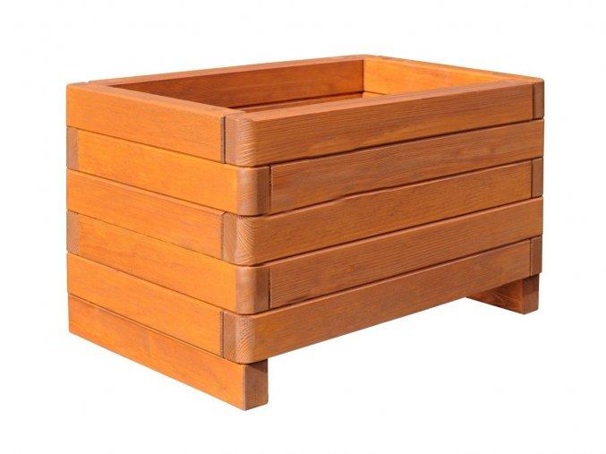 Dřevěný květináč zaob 60x40 cm Dub