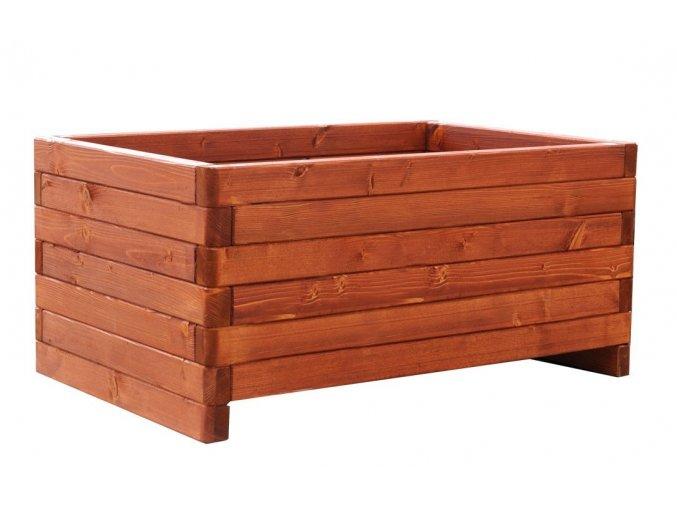Dřevěný květináč zaob 60x90 cm Dub