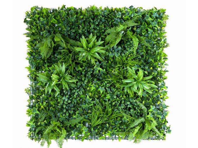 Vegetatie grof blad Jungle groen Plantenwand 100x100cm mat Kunsthaagvoordeel
