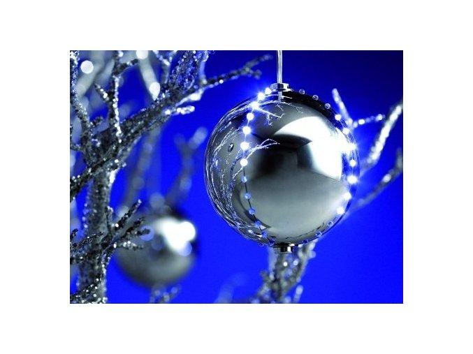Vánoční ozdoby LED, 8cm (5ks)