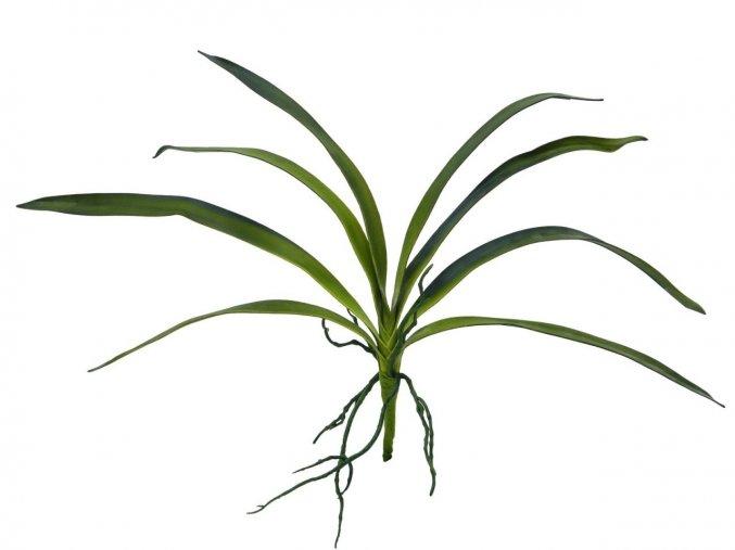 Umělá rostlina orchidej - listy (45cm)