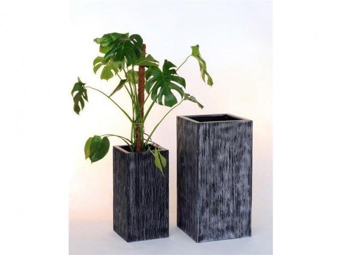 8515 kvetinac sklolaminat benito 40x81cm cerny