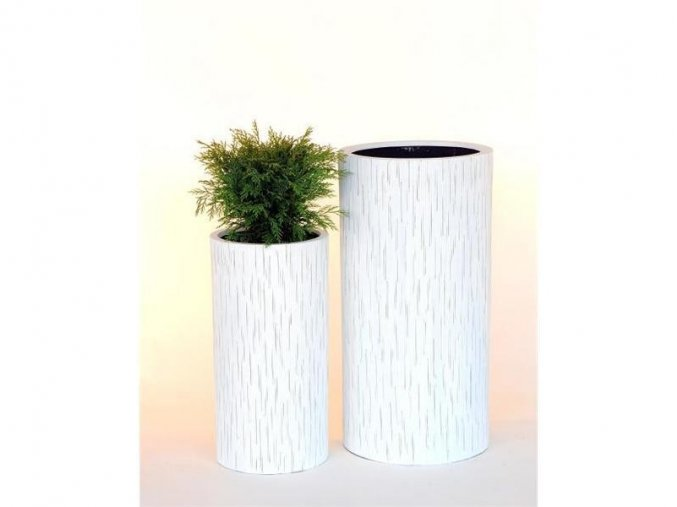 8551 kvetinac sklolaminat bianca 31x60cm bila