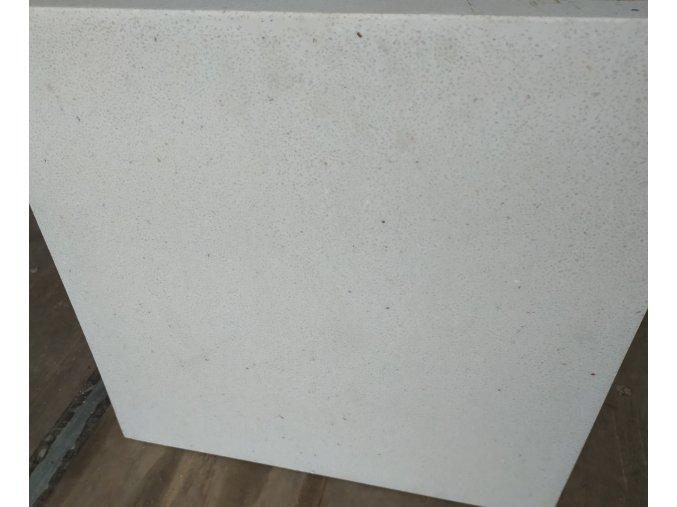 Květináč sklolaminát ROMA 30x59cm, krémové terrazzo