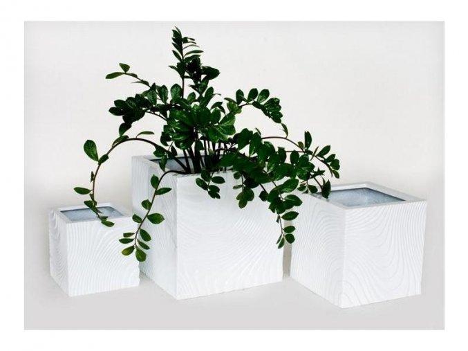 8731 kvetinac sklolaminat vasco 40x40cm bila