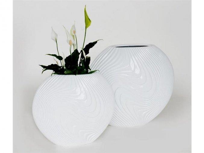 8782 kvetinac sklolaminat viola 59x29x50cm bila