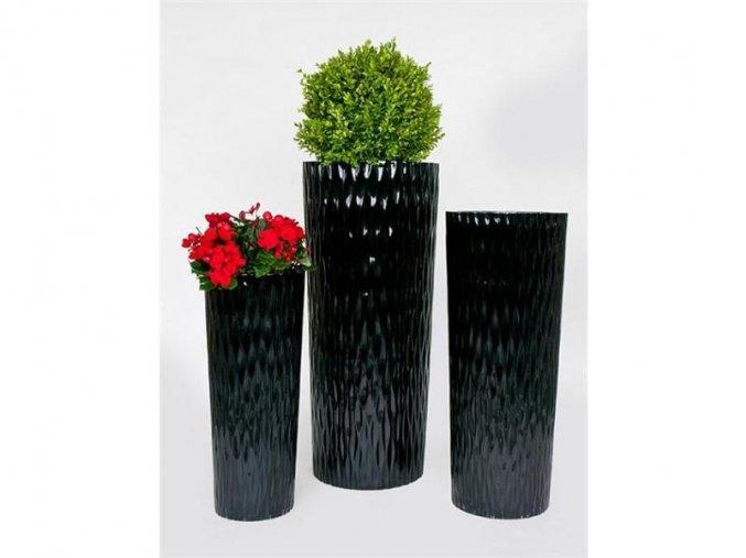 8836 kvetinac sklolaminat oriana 33x79 5cm cerna