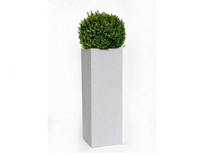 8923 kvetinac sklolaminat ricco 35x100cm kremove terrazzo