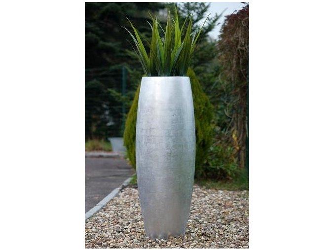Květináč sklolaminát Agnes (Varianta (116cm) stříbrný)