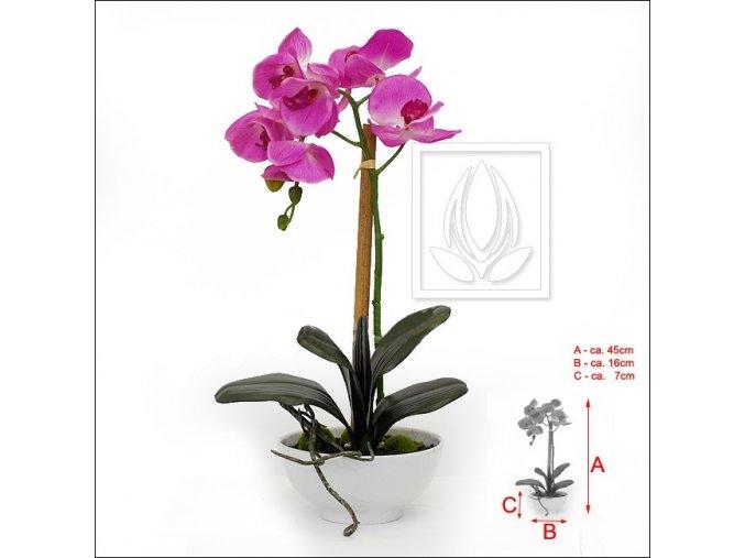 Umělá rostlina Orchidej v misce (45cm)