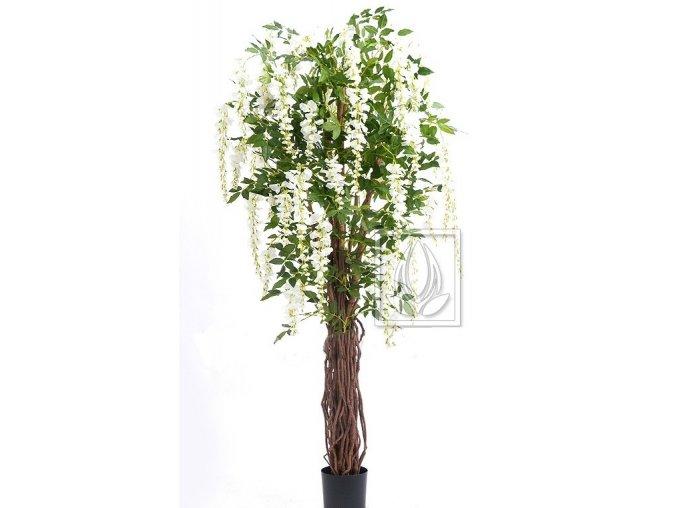 Umělý strom Wisteria Liane (180cm) bílá