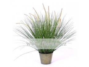 Umělá rostlina Tráva Pennisetum (85 - 100cm)